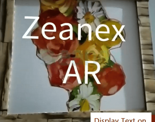 Augment Text on image target